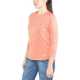 The North Face Inlux 3/4 Sleeve Top Dam fire brick red heather